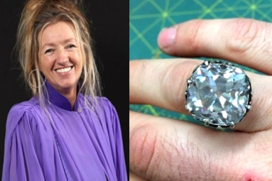 After 30 Years Woman Realizes The Glass Ring She Bought On Sale Was A Diamond Worth Rs 68 Crore